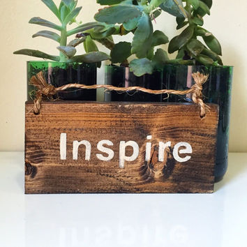 Inspire Sign / Hanging Sign / Rustic Wood Sign / Yoga Decor