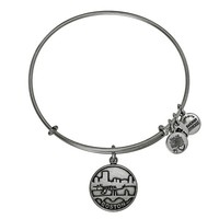 Alex and Ani Boston Charm Bangle - Russian Silver
