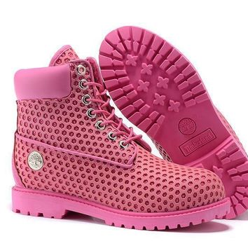 Timberland Women Deep pink 6 Inch Premium Honeycomb Breathable Boots