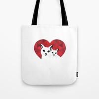 Cats in love Tote Bag by Sagacious Design