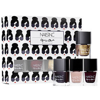 NAILS INC. alice + olivia by Stacey Bendet Mini Nail Set (4 x 0.17 oz Next To Nothing/Ruby Night Sky/Gold Goddess/Paris Rouge)