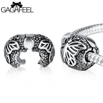 GAGAFEEL Butterfly Clip Charms Beads Fit For Pandora Bracelets & Necklaces