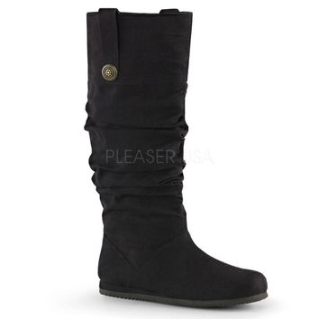 Pleaser Female Microfiber Renaissance Pull-On Mid-Calf Boot REN104