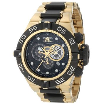Invicta 6562 Men's Subaqua Noma IV Chronograph Black Dial Two Tone Steel Bracelet Dive Watch