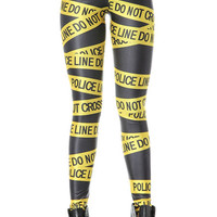 Letter Print Elastic Waisted Leggings