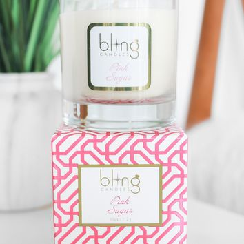 BLING Pink Sugar 11 oz Candle