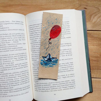 Stephen King bookmark, Leather quote bookmark,  We all float down here, It, Pennywise bookmark, genuine leather bookmark upcycled leather