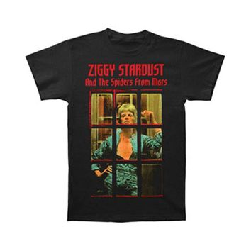 David Bowie Men's  Ziggy Phone Booth T-shirt Black