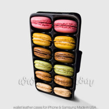 French Macarons Box Wallet iPhone Cases Macarons Samsung Wallet Leather Cases