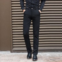 2017 Brand Mens Dress Pants Stretch Slim Fit Slacks Casual Formal Business Trousers 28  38 40