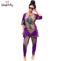 Summer Traditional African Clothing 2 Piece Set