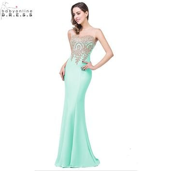 Robe Demoiselle D'honneur 11 Colors Lace Mermaid Mint Green Navy Blue Bridesmaid Dresses Long 2017 Vestido Madrinha Casamento