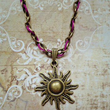 Tangled Rapunzel Sun Inspired Necklace