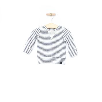Crew Sweatshirt in Navy Stripes