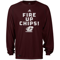 Cent. Michigan Chippewas adidas Sideline Swagger Long Sleeve Performance T-Shirt - Maroon