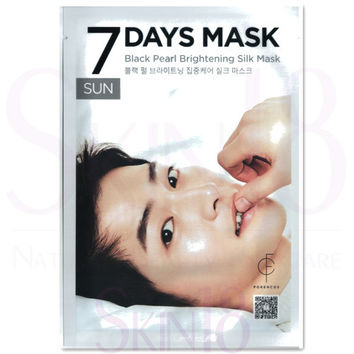 FORENCOS 7 Days Mask SUN - Black Pearl Brightening Silk Mask