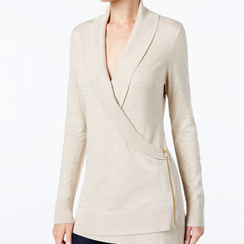 INC International Concepts Zip-Up Sweater Tunic, Created for Macy's | macys.com