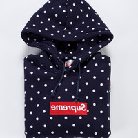 Supreme x CDG Hooded Sweatshirt in Navy