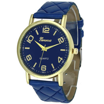 Geneva Quartz Watch For Men and Women