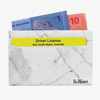 White Marble Card Wallet