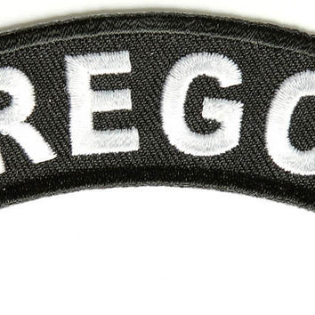 Oregon Rocker Patch Small Embroidered Motorcycle NEW Biker Vest Patch