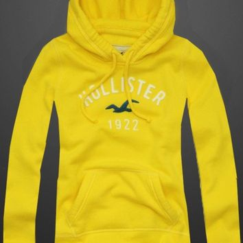 Hollister Women's Hoodie/Sweatshirt-Yellow Size Large-NWT-Free Priority Ship