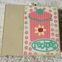 6x6 Chipboard Recipe Scrapbook Album