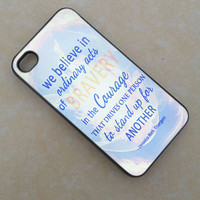 Divergent Dauntless Quotes -for iPhone 4/4s - iPhone 5 - iPhone 5s - iphone 5c - Samsung S3 - Samsung S4
