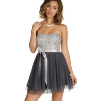 Claire-gray Homecoming Dress