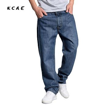 2017 Trendy sales mens baggy jeans hiphop retro Old schoold jeans denim loose jeans pants plus size 44 46 48
