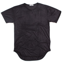 Perforated Suede T-Shirt Black