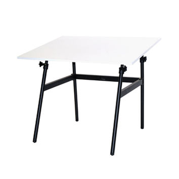 "Martin Berkeley Classic Black Base with White 30 x 42"""" C Top Drafting/Drawing Table, Desk"