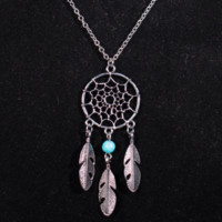 New fashion fringes Su feather stone long necklace