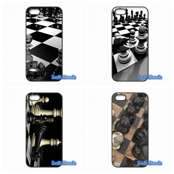 Chess Pieces and Chess Board Wallpaper Phone Cases Cover For Samsung Galaxy Grand prime E5 E7 Alpha Core prime ACE 2 3 4 4G
