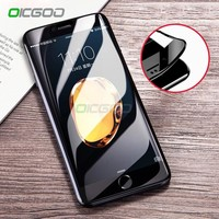 OICGOO 3D Soft Edge Curved Tempered Glass For iphone 8 7 6 6s Plus 3D Full Screen Protector Film For iphone 7 6 6s 8 plus Glass