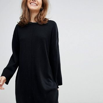 ASOS DESIGN oversized dress with wide sleeve at asos.com