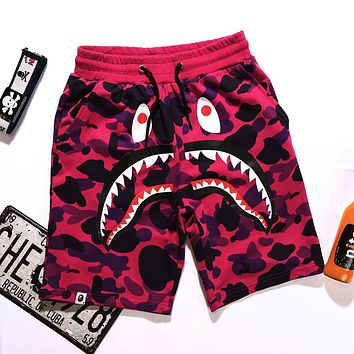 AAPE BAPE Summer Classic Hot Sale Men Women Camouflage Casual Running Sport Shorts Red