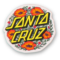 Santa Cruz Poppy Dot Sticker