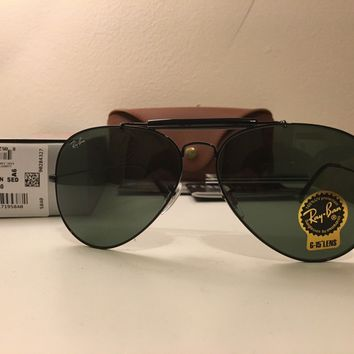 ea9b19251 New RAY BAN Sunglasses Black AVIATOR Outdoorsman II RB 3029 L211