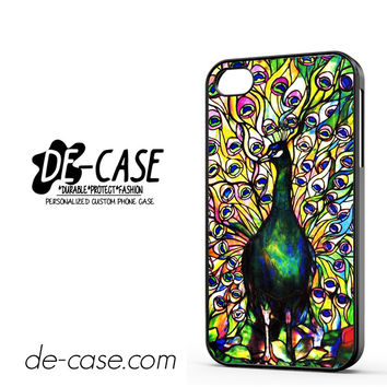 Peacock Tiffany Stained Glass DEAL-8521 Apple Phonecase Cover For Iphone 4 / Iphone 4S