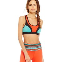 Gianni Bini Active Hadley Color Blocked Sports Bra | Dillards