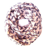 Womens Cute Fox Infinity Scarf I LOVE FOXES Fox Lover Scarf Blush Scarf Animal Lover Scarf Foxy Scarf Fun Gift