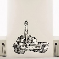 Wall Decal Vinyl Sticker Tank Weaponry Military Decor Sb447