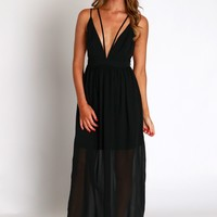 Enchanted Empire Maxi Dress Black