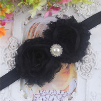 Lovely Kids Baby Girls Toddlers Infant Flower Headband Hair Bow Band Accessories On Sale