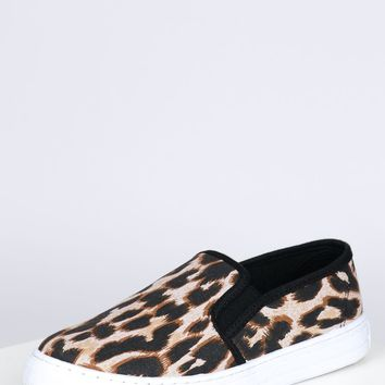 Elastic Slip On Sneakers Leopard