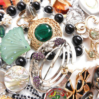Lot of Vintage Costume Jewelry  Rings Pins by MaejeanVINTAGE