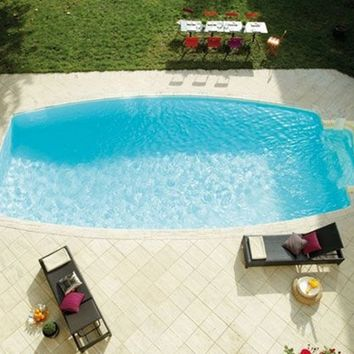In-Ground Swimming pool DESJOYAUX | Ovoid swimming pool by Desjoyaux Italia