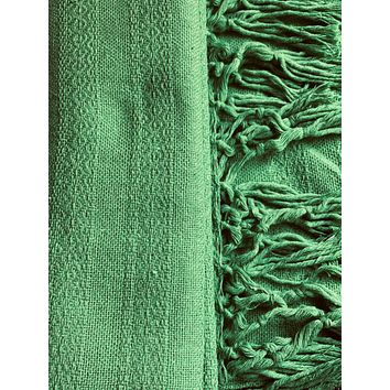 Mexican Rebozo Shawl - Green Stone Heart