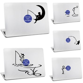 Humorous for Stick Figure Sticker for Apple MacBook Skin Air 11 12 13 Pro 13 15 17 Retina idea Wall Vinyl Decal Laptop Skin